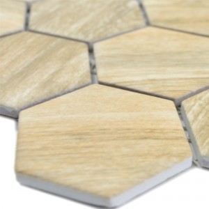 Ceramic Mosaic Duponti Hexagon Wood Optic Beige