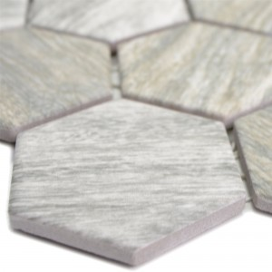 Ceramic Mosaic Duponti Hexagon Wood Optic Grey