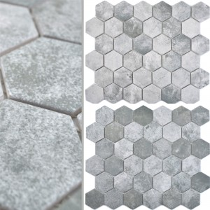 Ceramic Mosaic Comtessa Hexagon Cement Optic