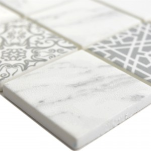 Glass Mosaic Tiles Acapella Carrara Square
