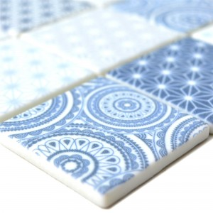 Glass Mosaic Tiles Acapella Light Blue Square