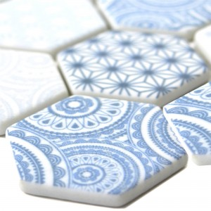Glass Mosaic Tiles Acapella Light Blue Hexagon