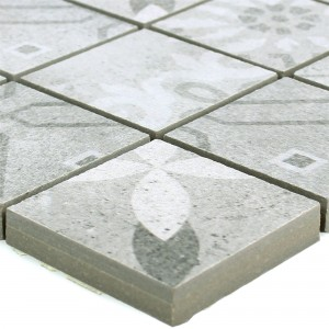 Ceramic Mosaic Vintage Tiles Coupe Grey R10/B