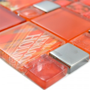 Glass Mosaic Tiles Nemesis Red