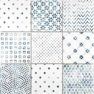 Floor Tiles Talia Retro Optic Blue 18,5x18,5cm