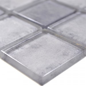 Glass Mosaic Tiles Clementine Grey