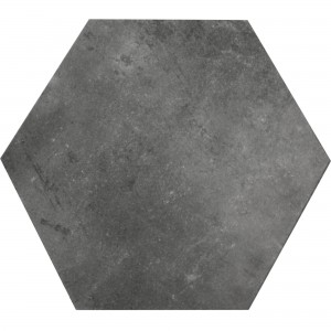 Floor Tiles Halesia Stone Optic Hexagon Black 52x60cm