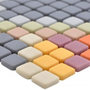 Glass Mosaic Tiles Haramont Light Grey