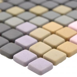 Glass Mosaic Tiles Haramont Dark Grey