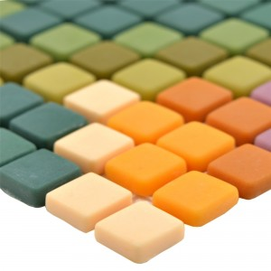 Glass Mosaic Tiles Haramont Green