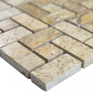 Natural Stone Marble Mosaic Tiles Umay Brown Beige