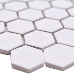 Ceramic Mosaic Bismarck R10B Hexagon White H23