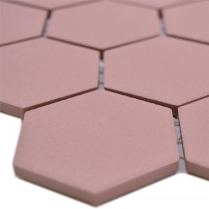 Ceramic Mosaic Bismarck R10B Hexagon Terracotta H51