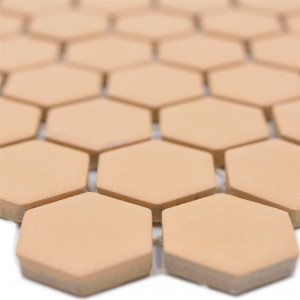Ceramic Mosaic Bismarck R10B Hexagon Ocher Orange H23