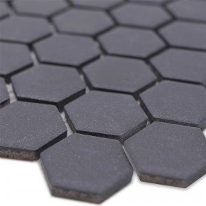 Ceramic Mosaic Bismarck R10B Hexagon Black H23
