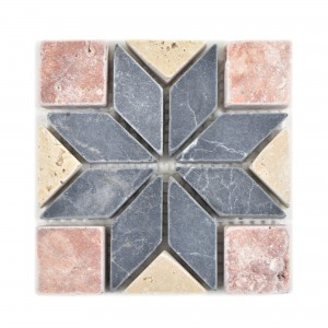 Natural Stone Rosone Gramling Beige Red Black 10x10cm