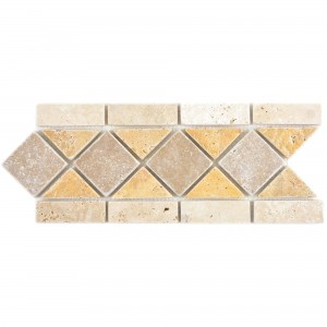Natural Stone Border Valat Beige Brown Gold