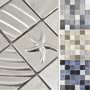 Glass Stainless Steel Natural Stone Mosaic Emporia