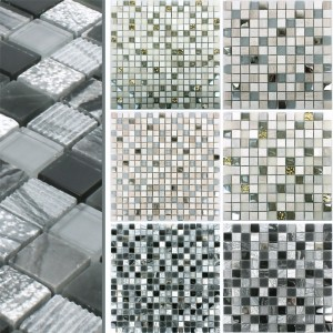 Mosaic Tiles Venzona Natural Stone Glass Mix