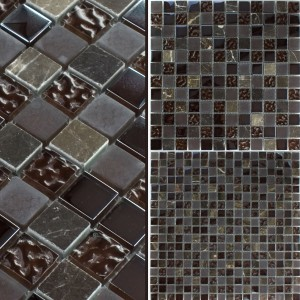 Mosaic Tiles Glass Marble Mix Sintra Brown