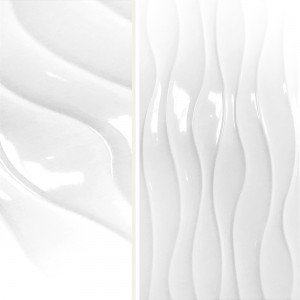 Wall Tiles Karolina Wave Decor White
