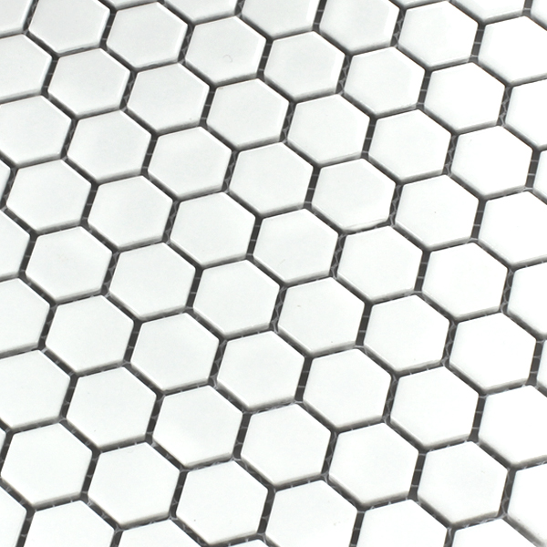 Ceramic Mosaic Tiles Honeycomb Structure White HO24134m