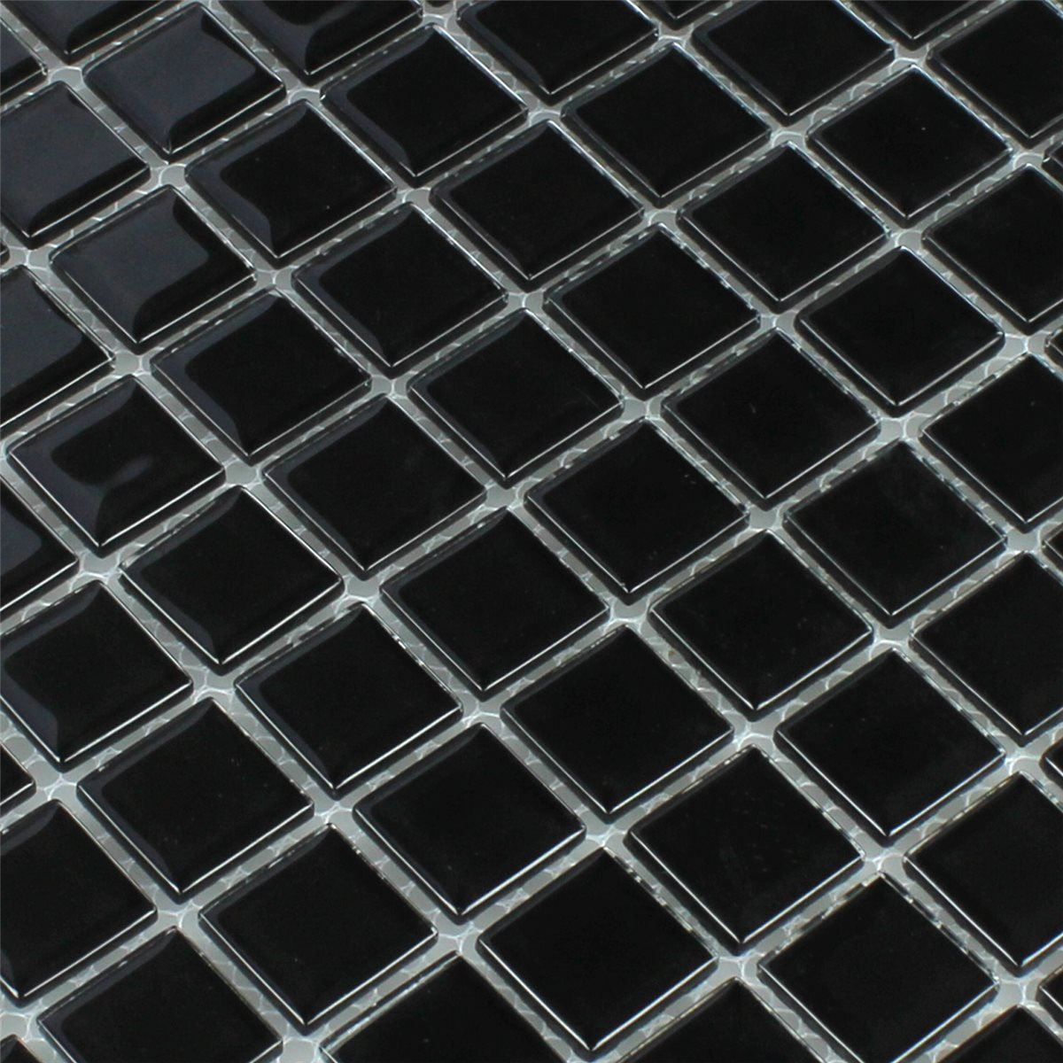 crystal glass mosaic tiles black 25x25x4mm www