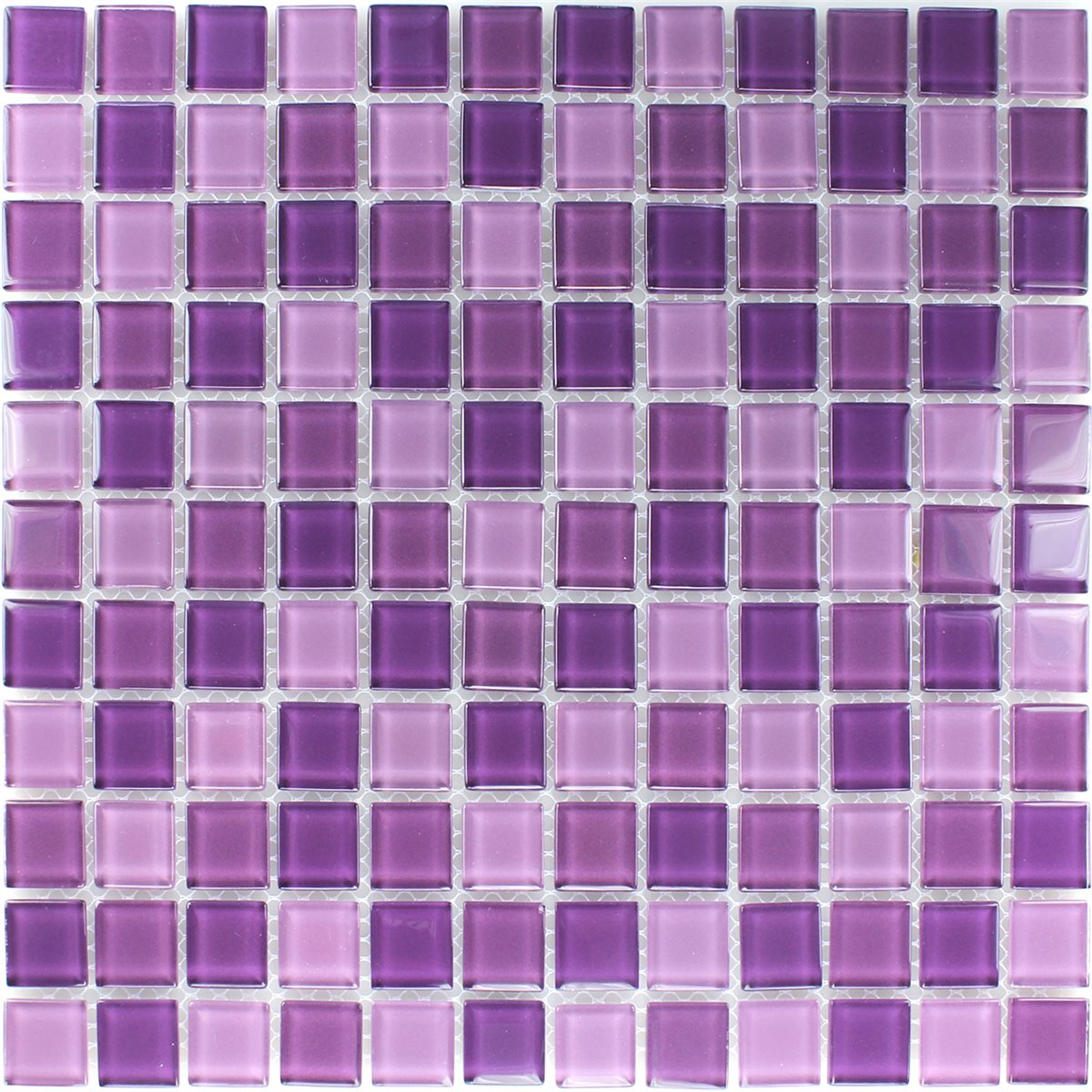 Clear Glass Mosaic Tiles Purple Mix Www Mosafil Co Uk