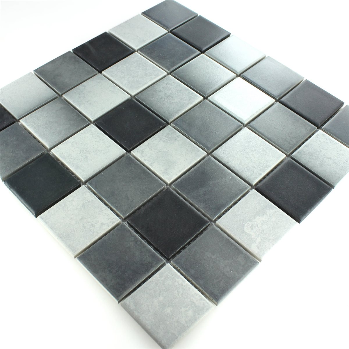 Ceramic mosaic tiles grey mix non slip mosafil mosaic tiles ceramic non slip grey mix dailygadgetfo Images