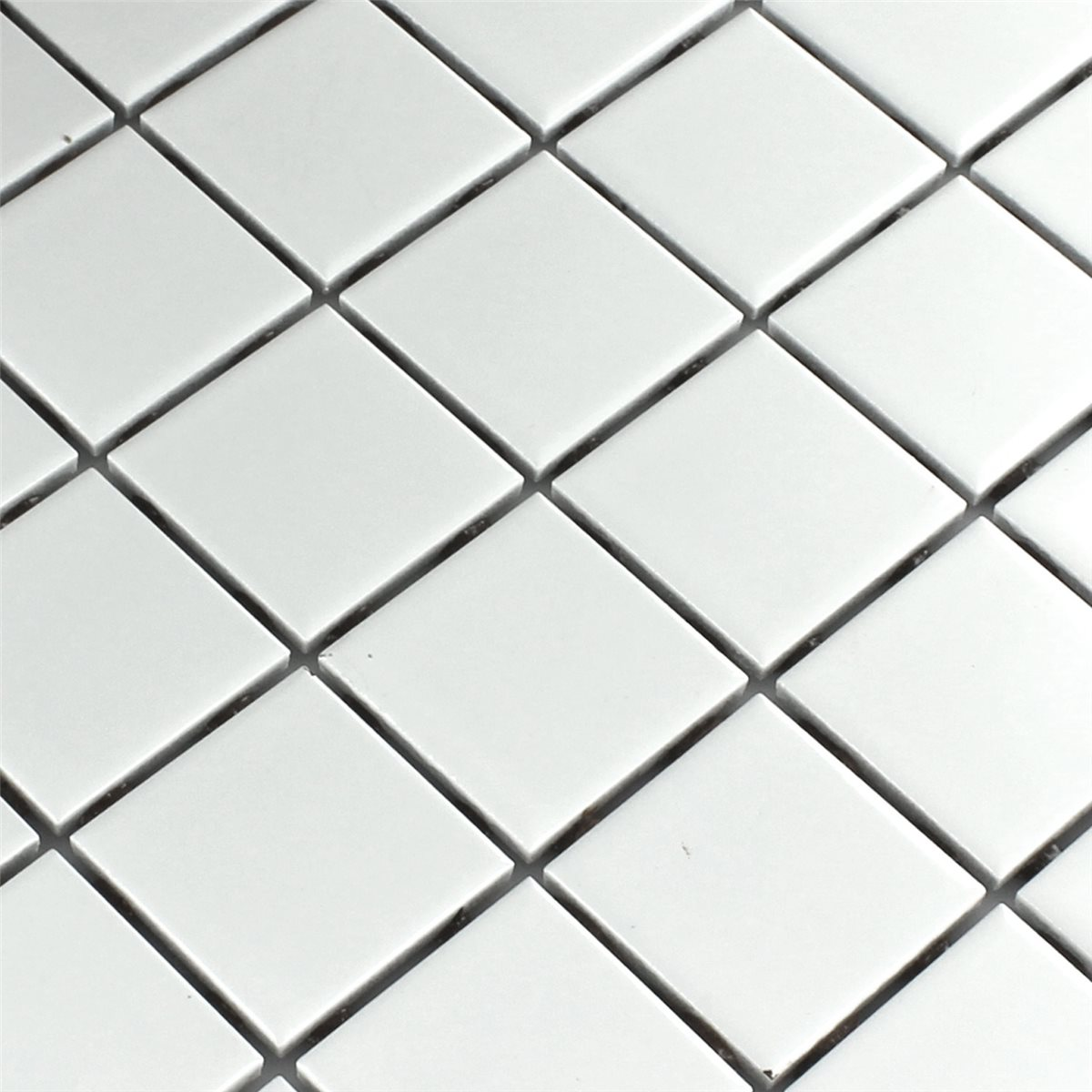 Ceramic mosaic tiles white matt 48x48x6mm ho24163m mosaic tiles ceramic white mat 48x48x6mm dailygadgetfo Gallery