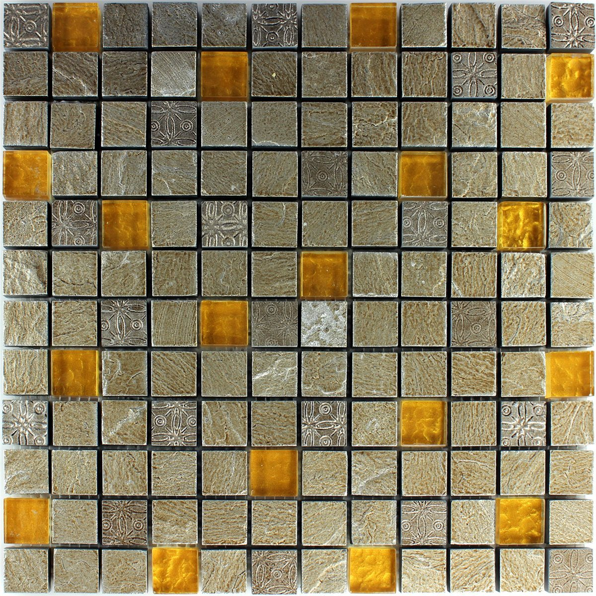 Orange Marble Tile : Natural stone glass mosaic tiles grey orange lz m