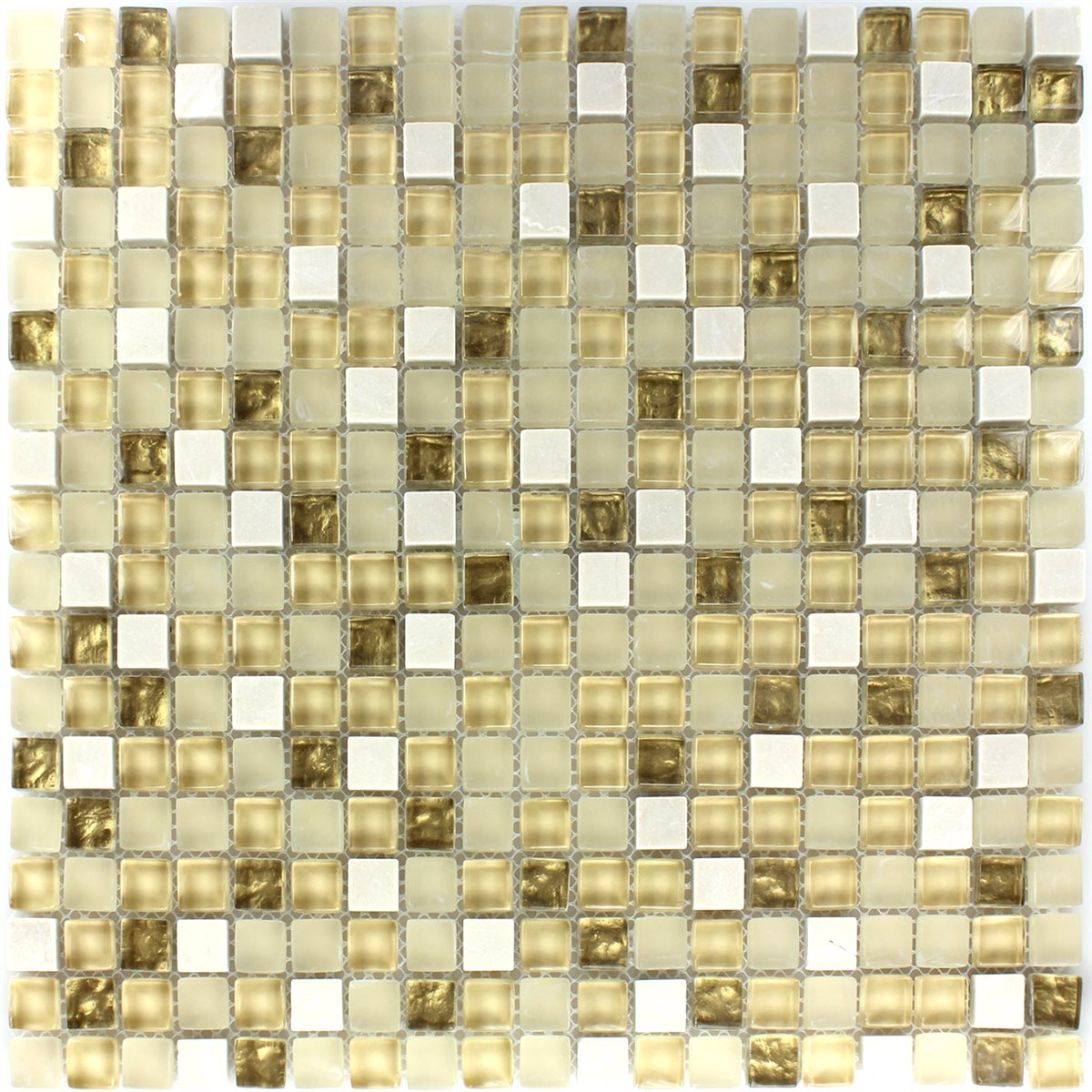 glass natural stone mosaic tiles white gold mix www
