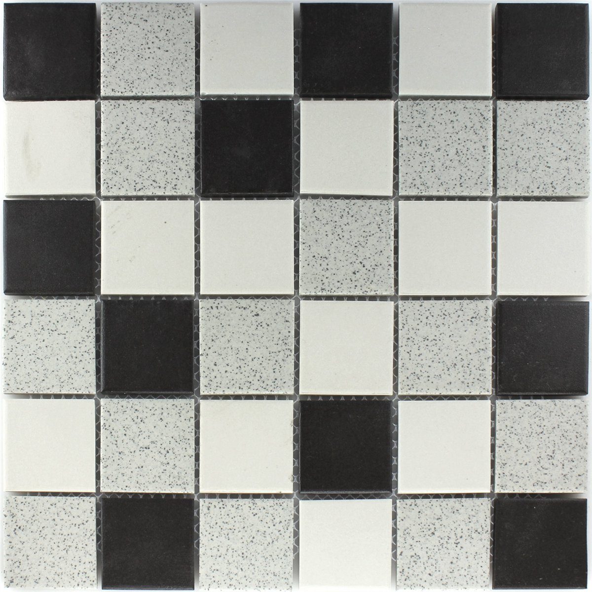 ceramic mosaic tiles backsplash black grey mat mix www. Black Bedroom Furniture Sets. Home Design Ideas