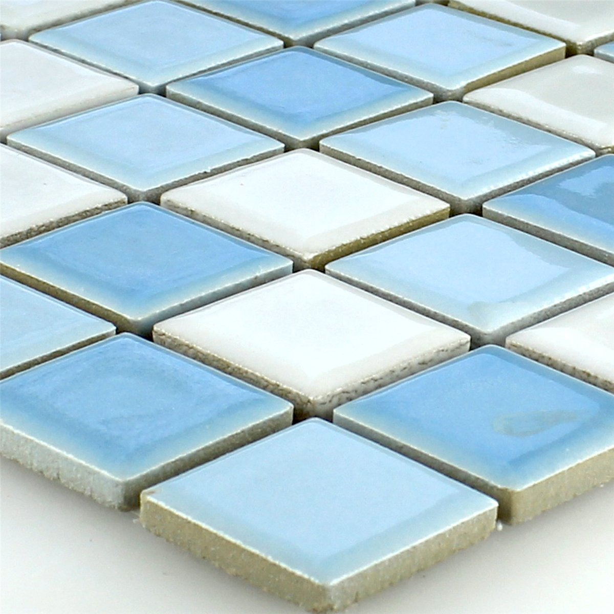 ceramic mosaic tiles blue white 25x25x5mm. Black Bedroom Furniture Sets. Home Design Ideas