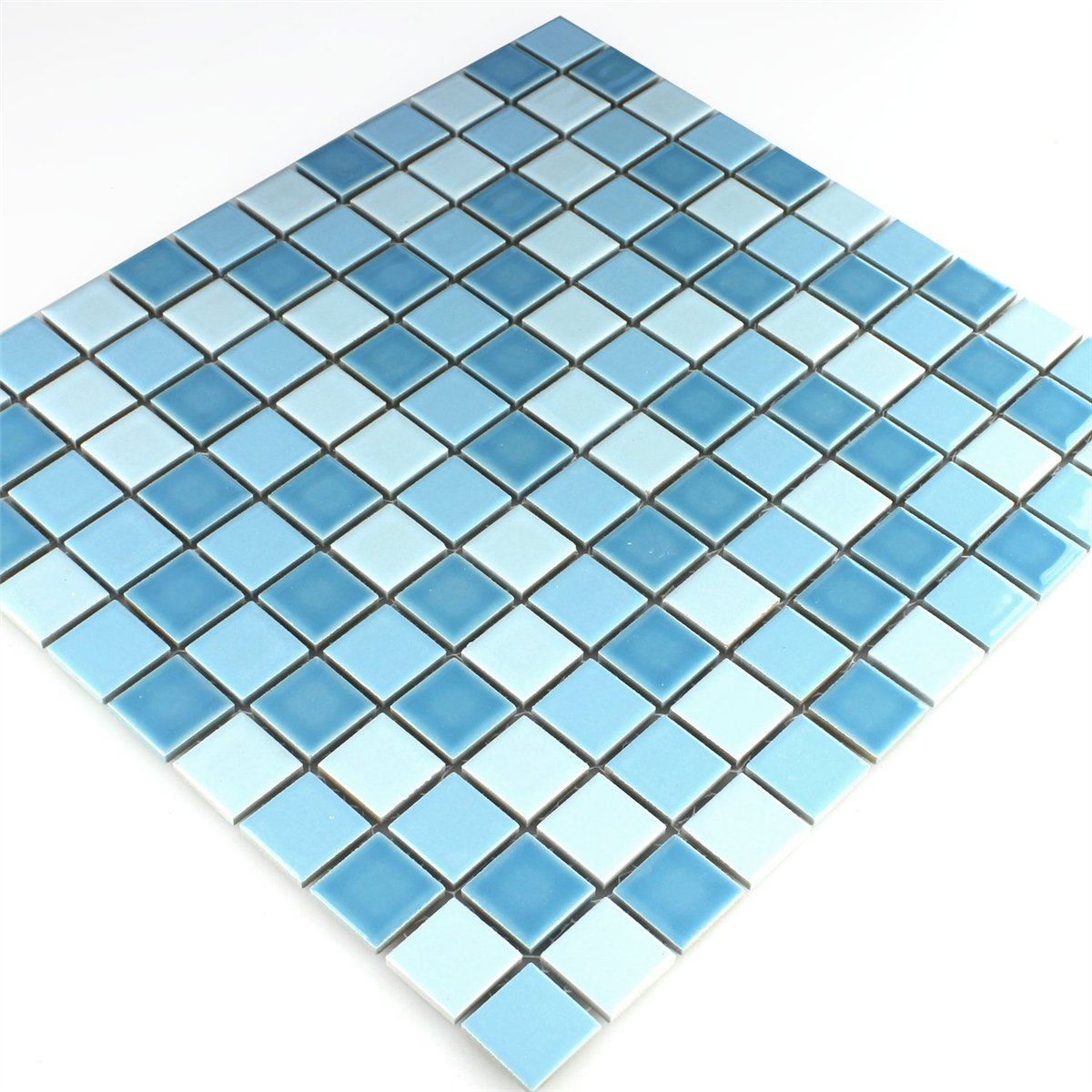 Ceramic Mosaic Tiles Blue Mix 25x25x5mm