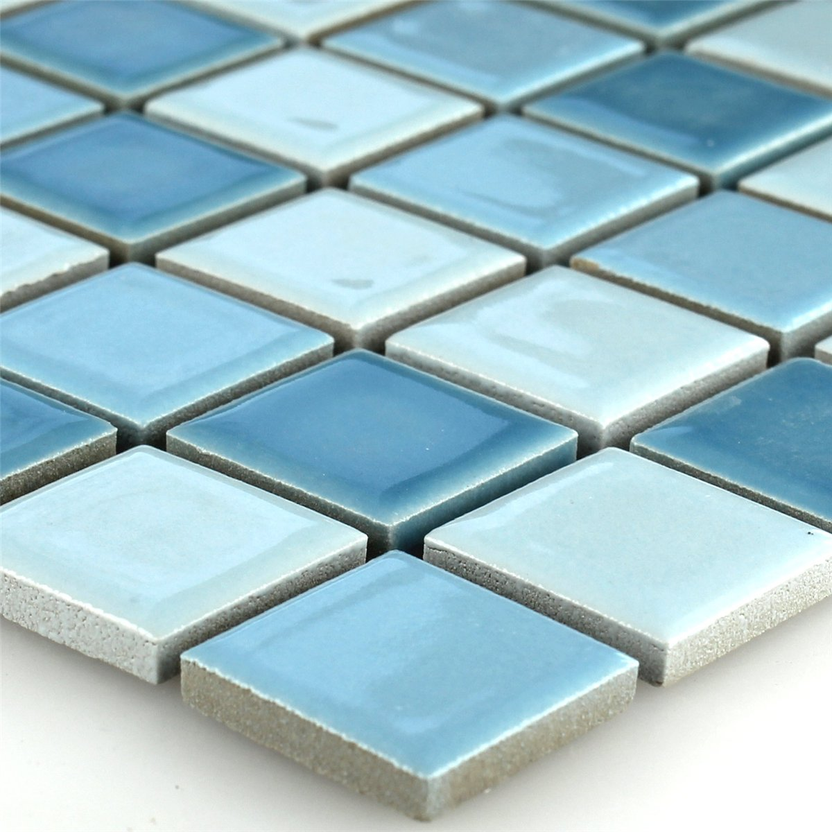 ceramic mosaic tiles blue mix 25x25x5mm. Black Bedroom Furniture Sets. Home Design Ideas