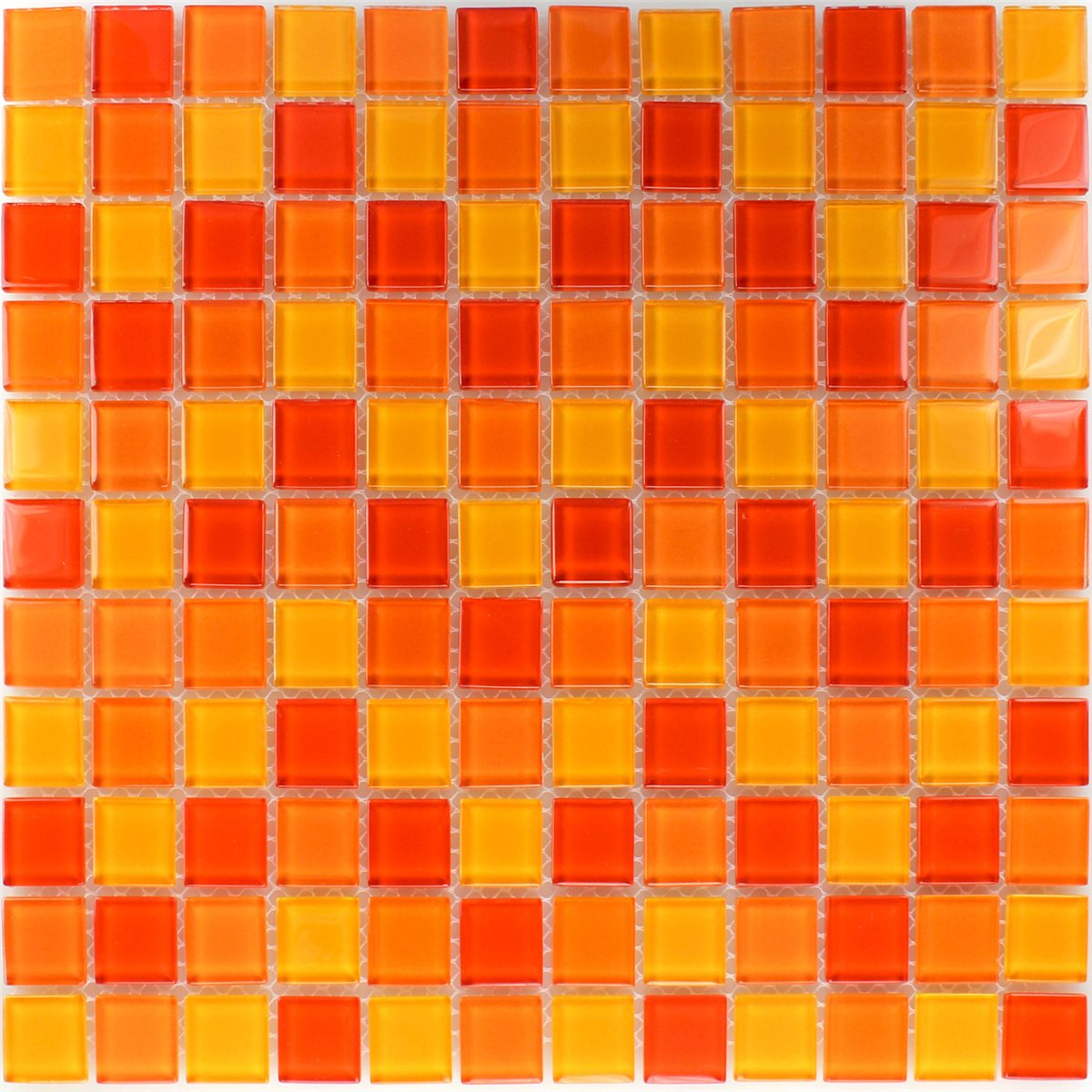 glass mosaic tiles red orange yellow mix. Black Bedroom Furniture Sets. Home Design Ideas