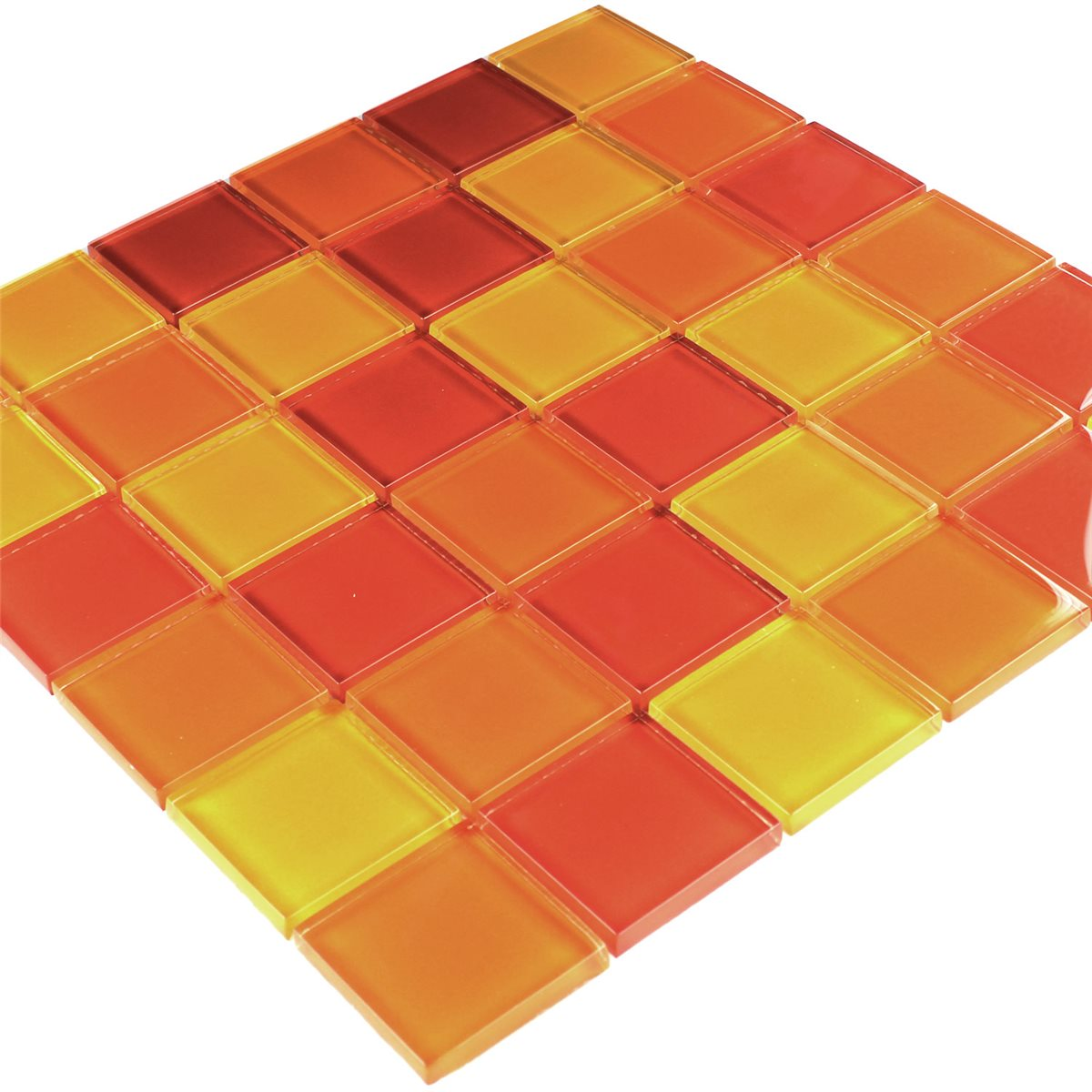 glass mosaic tile yellow orange red mix. Black Bedroom Furniture Sets. Home Design Ideas