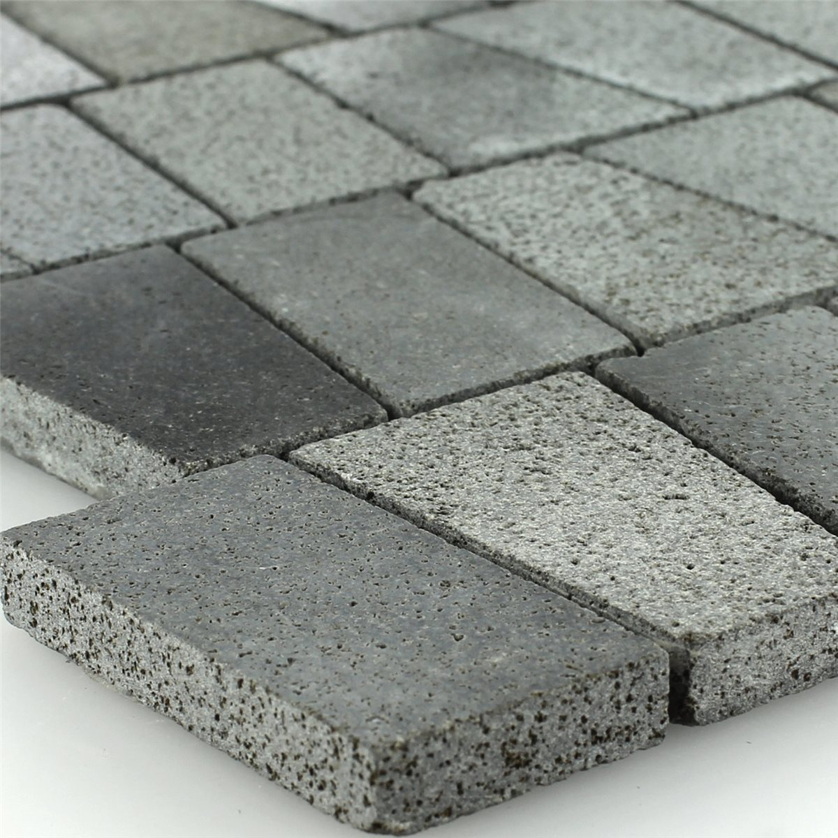 Basalt natural stone mosaic tiles anthracite mosafil mosaic tiles natural stone basalt anthracite dailygadgetfo Gallery