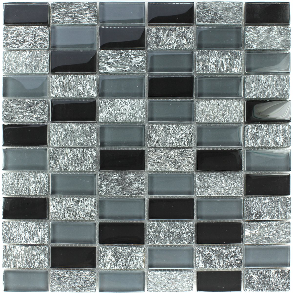glass marble mosaic tiles grey black mix www