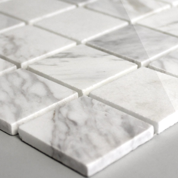 mosaic tiles marble 48x48x8mm white polished lz64010m