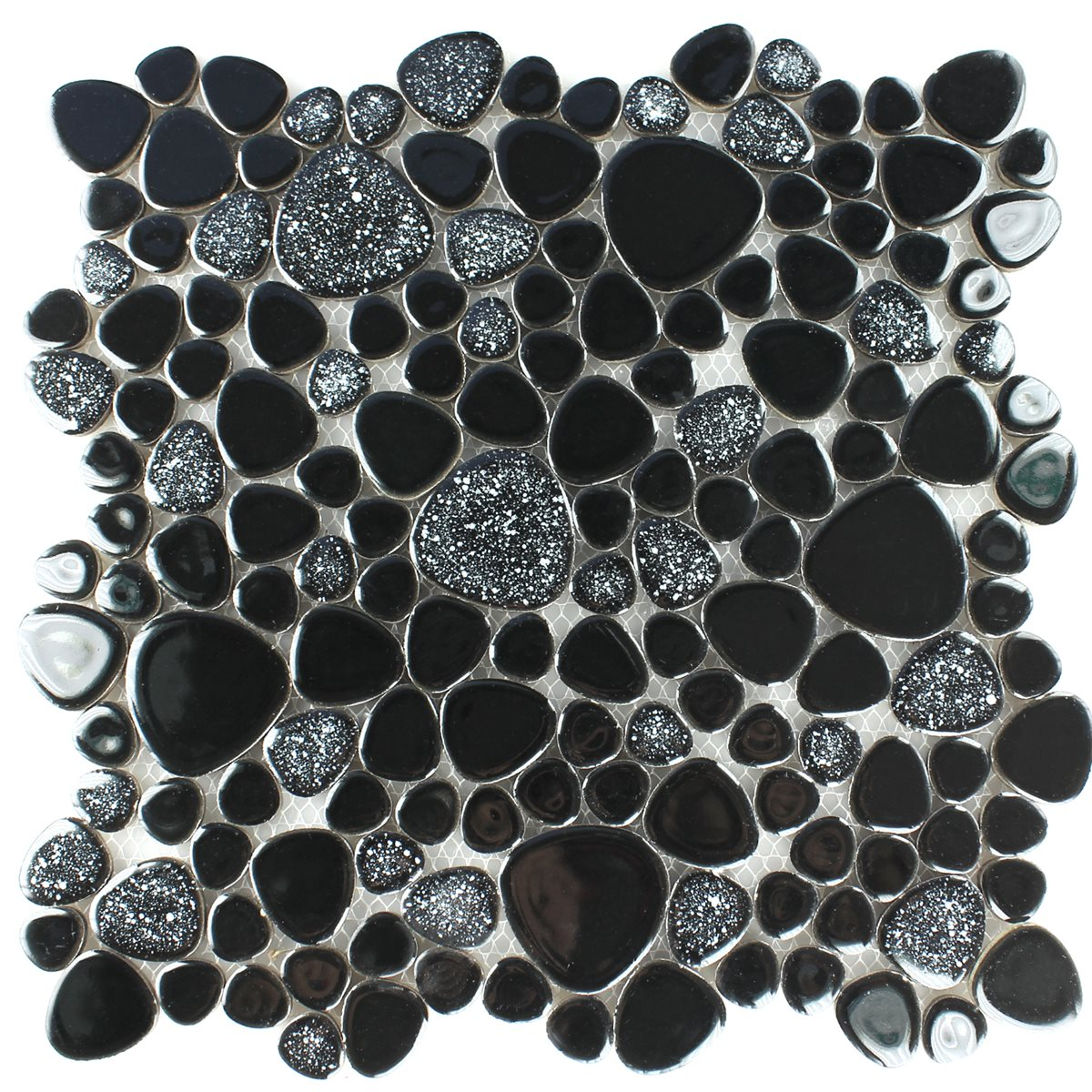 Pebble floor tiles choice image tile flooring design ideas ceramic pebble mosaic black tm33127m mosaic tiles ceramic pebble black doublecrazyfo choice image doublecrazyfo Gallery