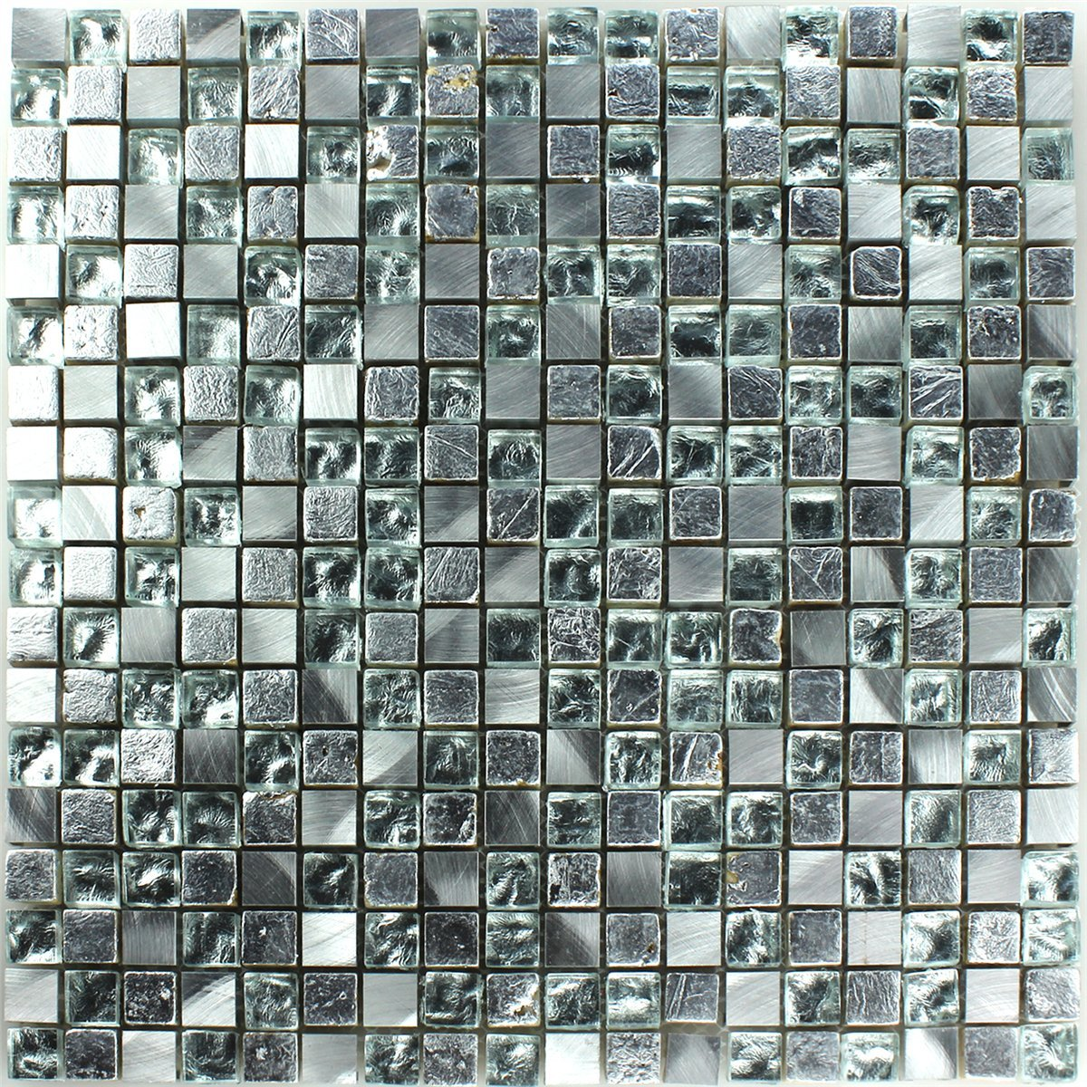 mosaic tiles glass natural stone silver - Mosaic Tiles