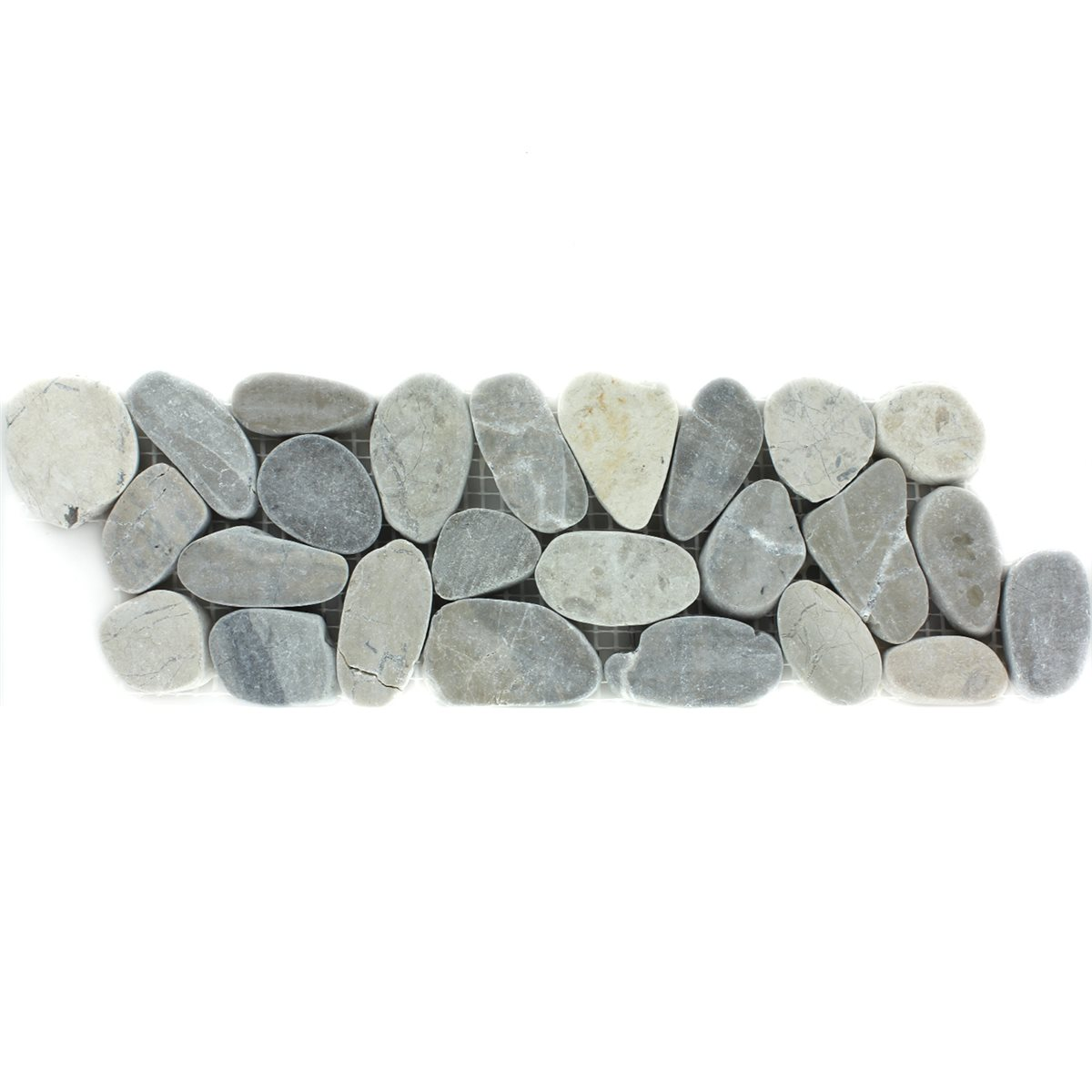 river pebbles border 10x30cm light grey pebbles-lz69240m, Wohnzimmer dekoo