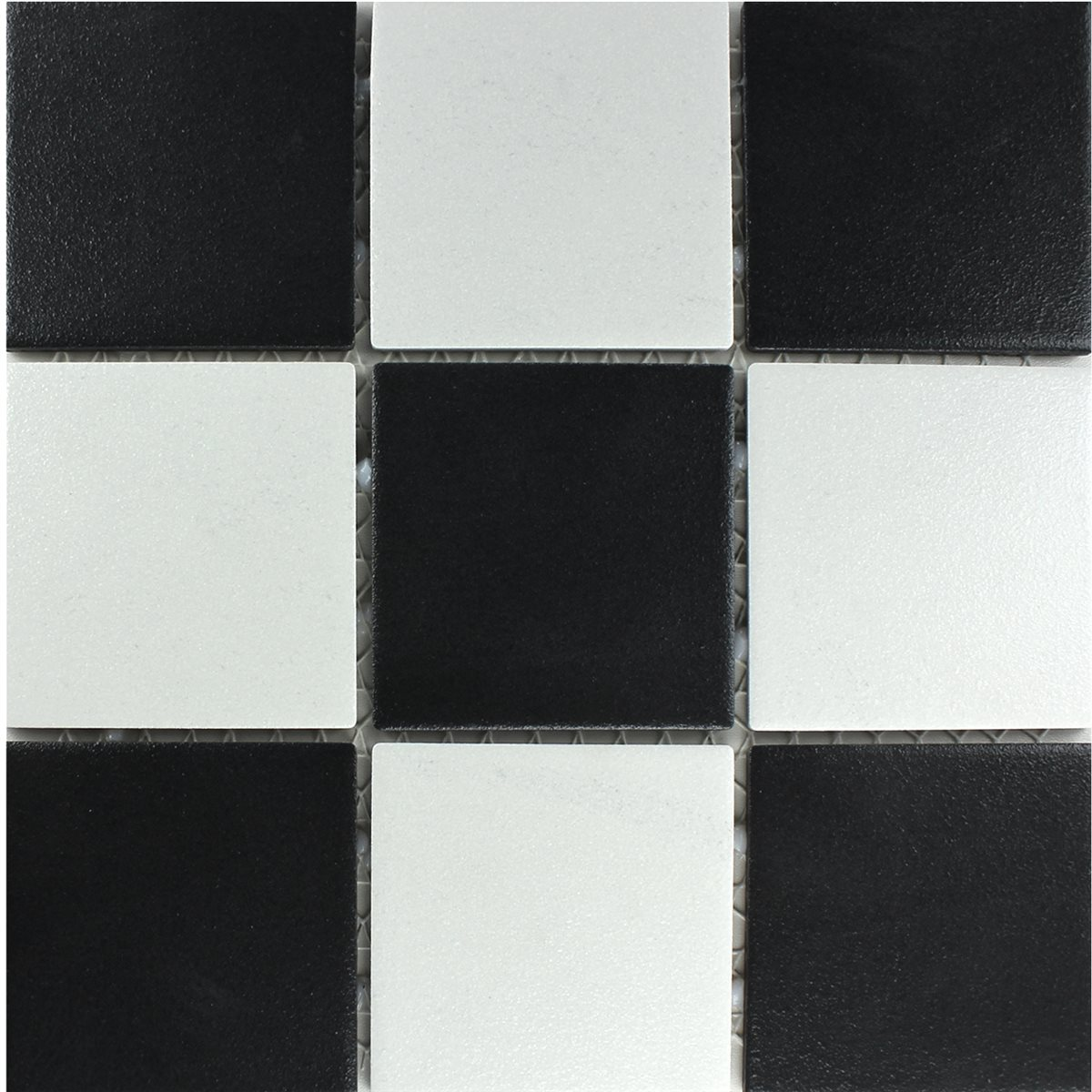 Ceramic mosaic tiles white beige terracotta mix mosafil for Carrelage noir mat