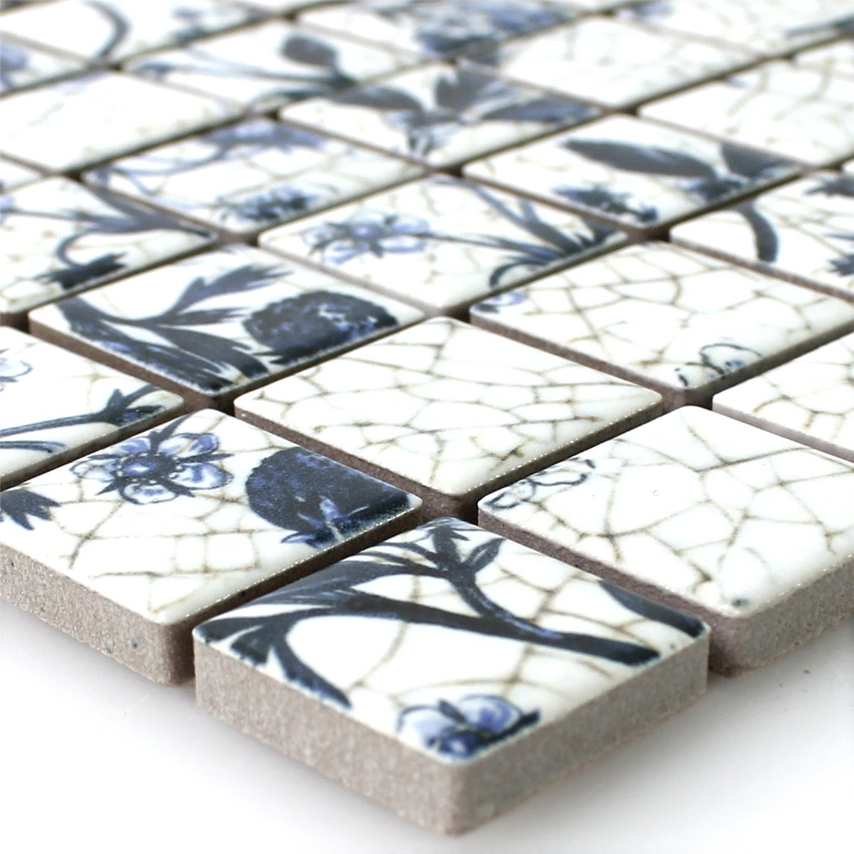 Ceramic mosaic tiles strawberry white blue tm33350 mosaic tiles ceramic strawberry white blue dailygadgetfo Choice Image