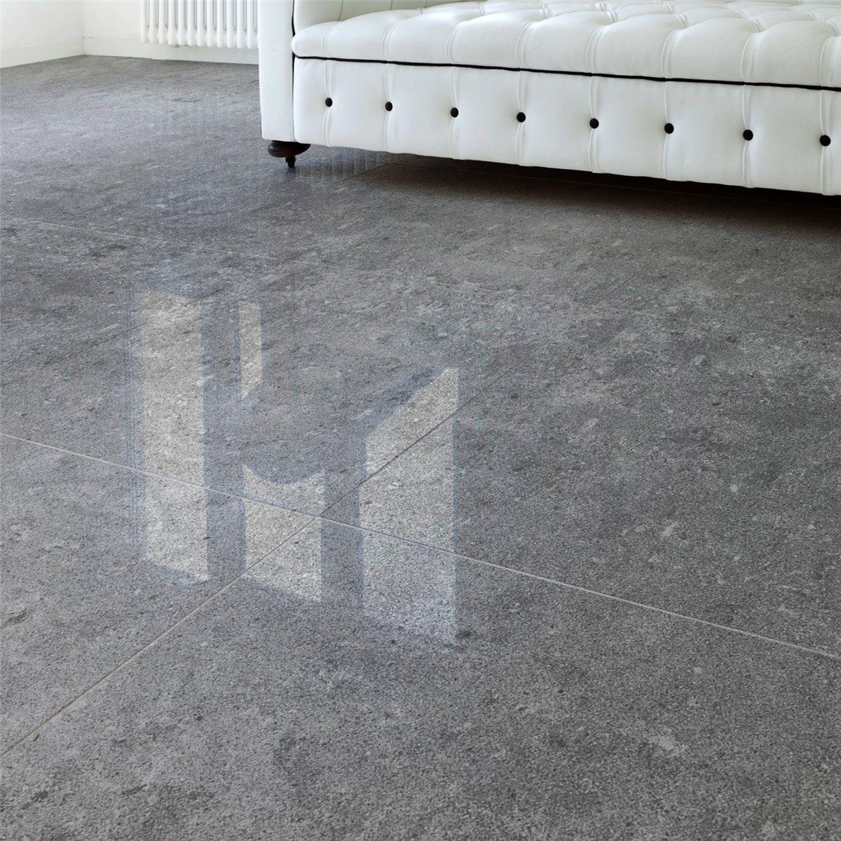 Porcelain Stoneware Floor Tiles Nairobi Dark Grey Polished