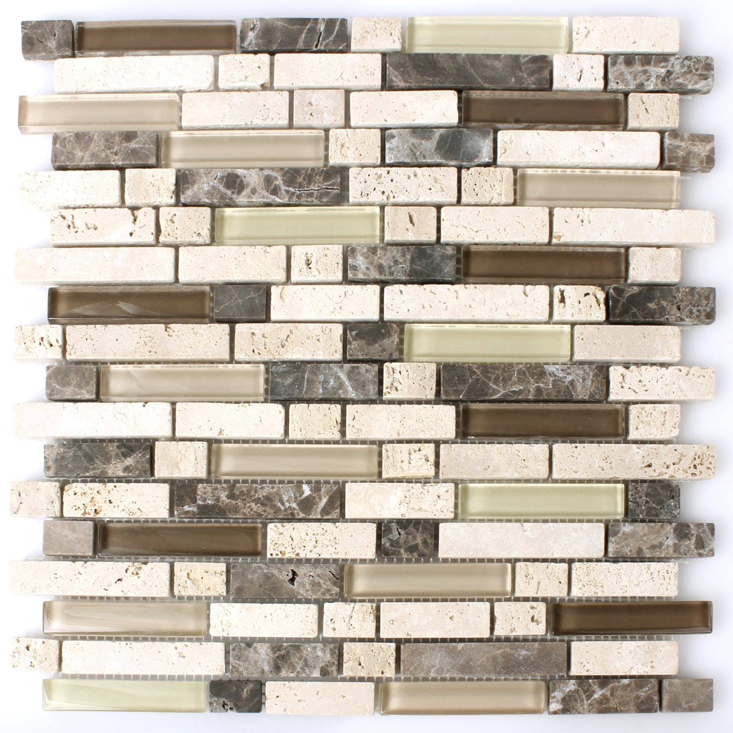 glass natural stone mosaic tiles beige brown mix mt51281. Black Bedroom Furniture Sets. Home Design Ideas