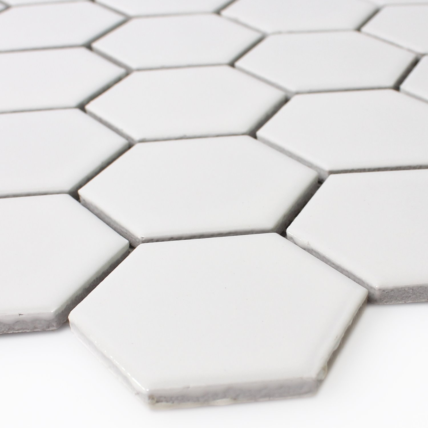 Ceramic mosaic tiles hexagon white mat tm33324 mosaic tiles ceramic hexagon white mat dailygadgetfo Gallery