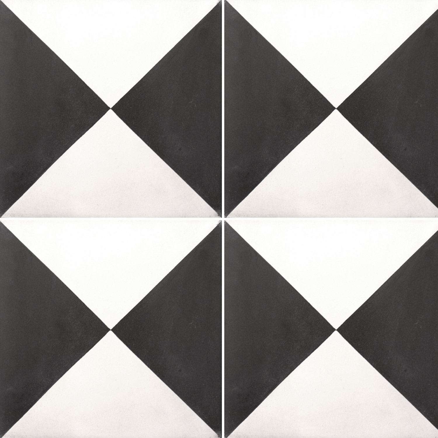 Cement tiles wells diagonal black uni pl78311 for Black and white tile floors